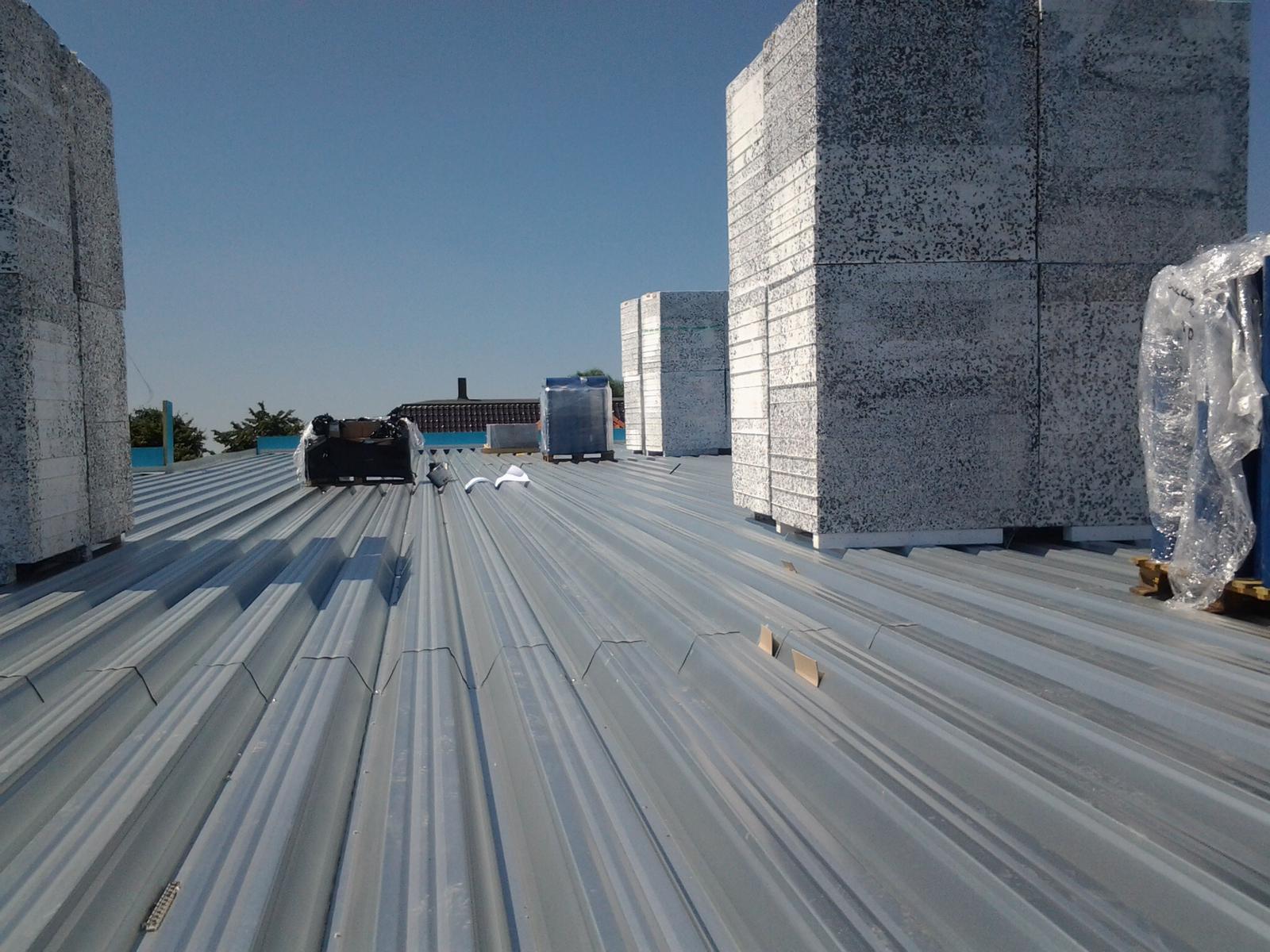 Kunststof dakbedekking plat dak